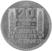 20 Francs Turin (1929-1939) revers